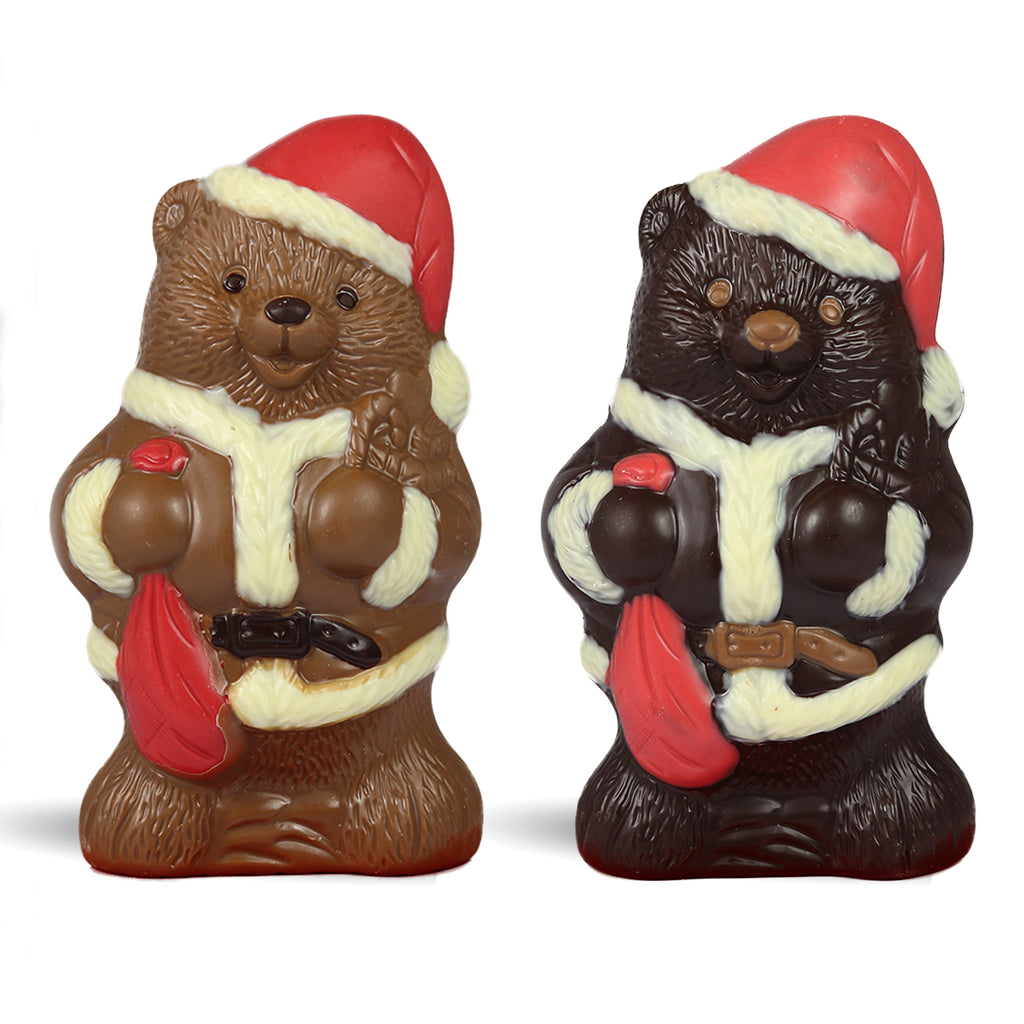 Chocolate Santa Bear by Jacques Torres