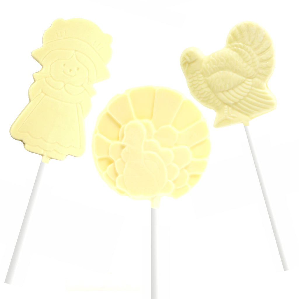 Thanksgiving Lollipops - White 6 pc and 12 pc by Jacques Torres