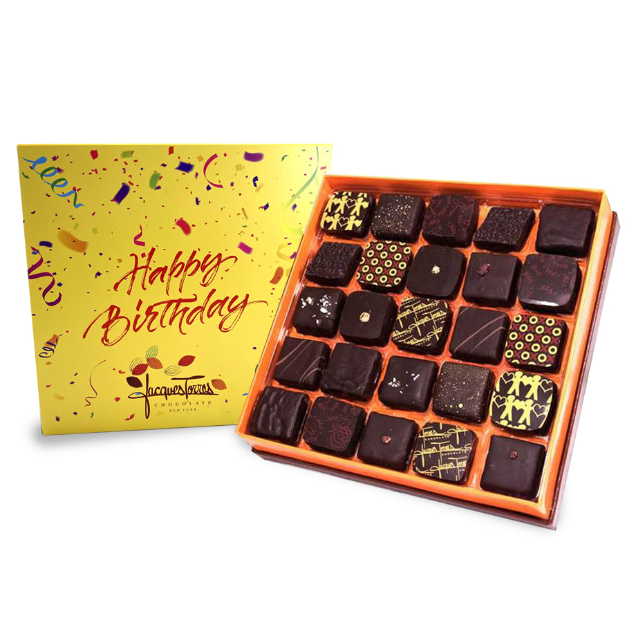 Dark Chocolates with Happy Birthday Sleeve 25 and 50 pc by Jacques Torres