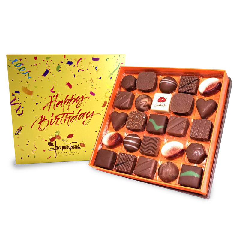 Milk Chocolates with Happy Birthday Sleeve 25 or 50 pc by Jacques Torres