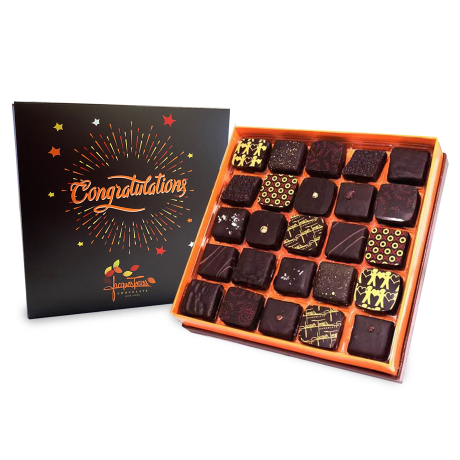 Dark Chocolates with Congratulations Sleeve by Jacques Torres