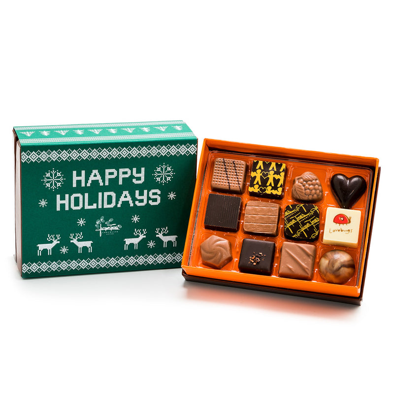 12 pc - Milk Chocolate Happy Holidays BonBons by Jacques Torres