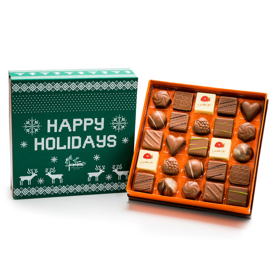 25 pc - Milk Chocolate Happy Holidays BonBons by Jacques Torres
