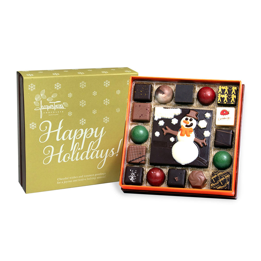 Winter Wonderland 16 Piece Bonbons with Gold Happy Holidays Sleeve