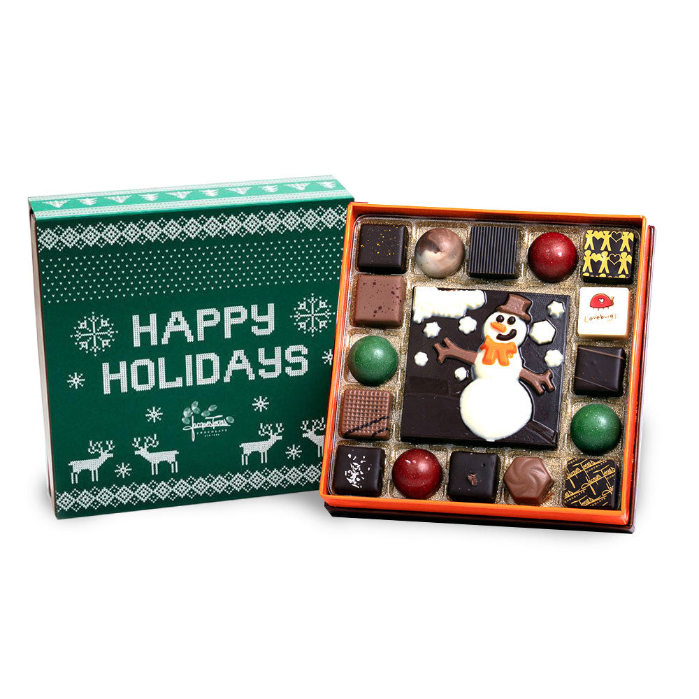 Winter Wonderland 16 Piece Bonbons with Green Happy Holidays Sleeve