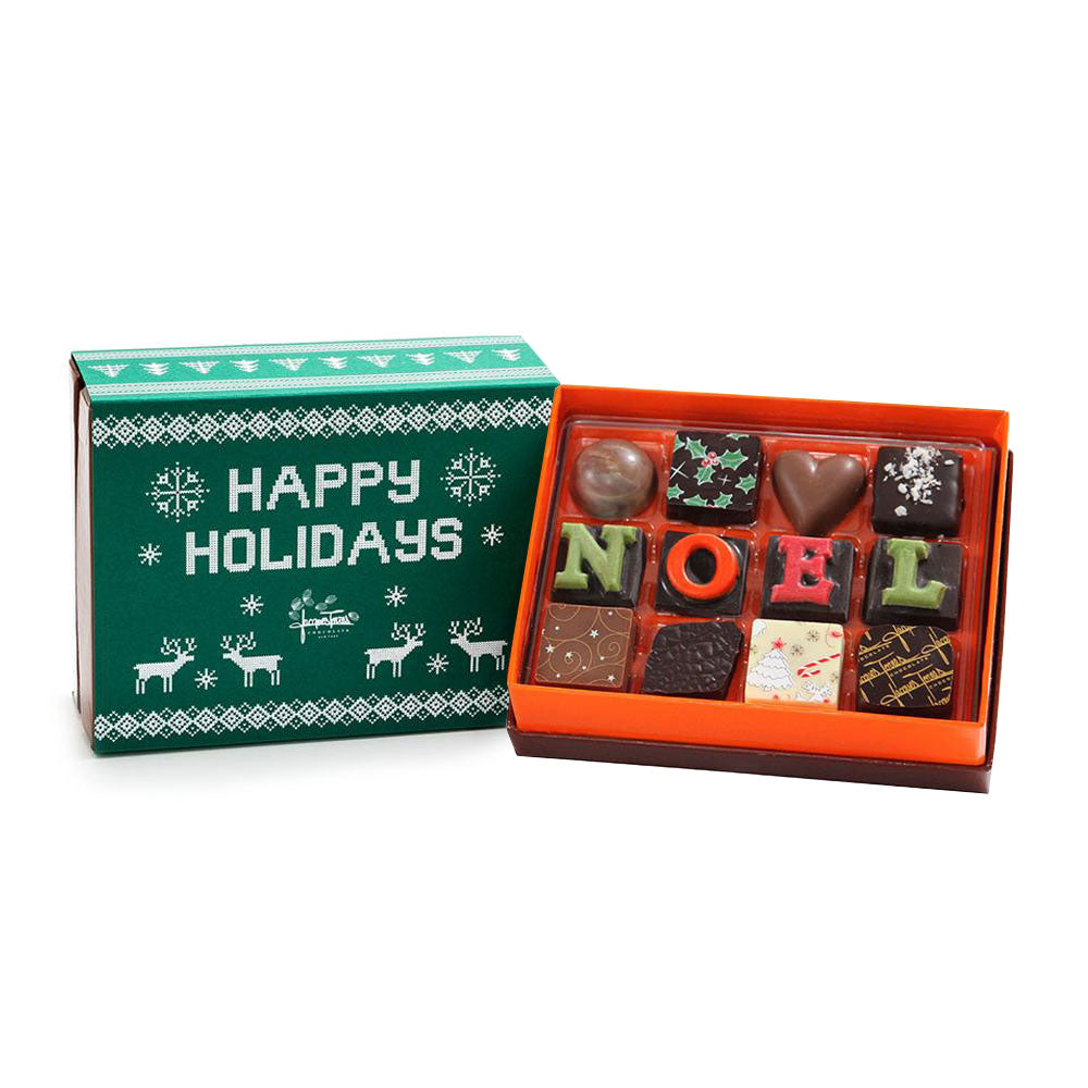 The First NOEL Bonbons with Green Happy Holidays Sleeve Sleeve 12 pc