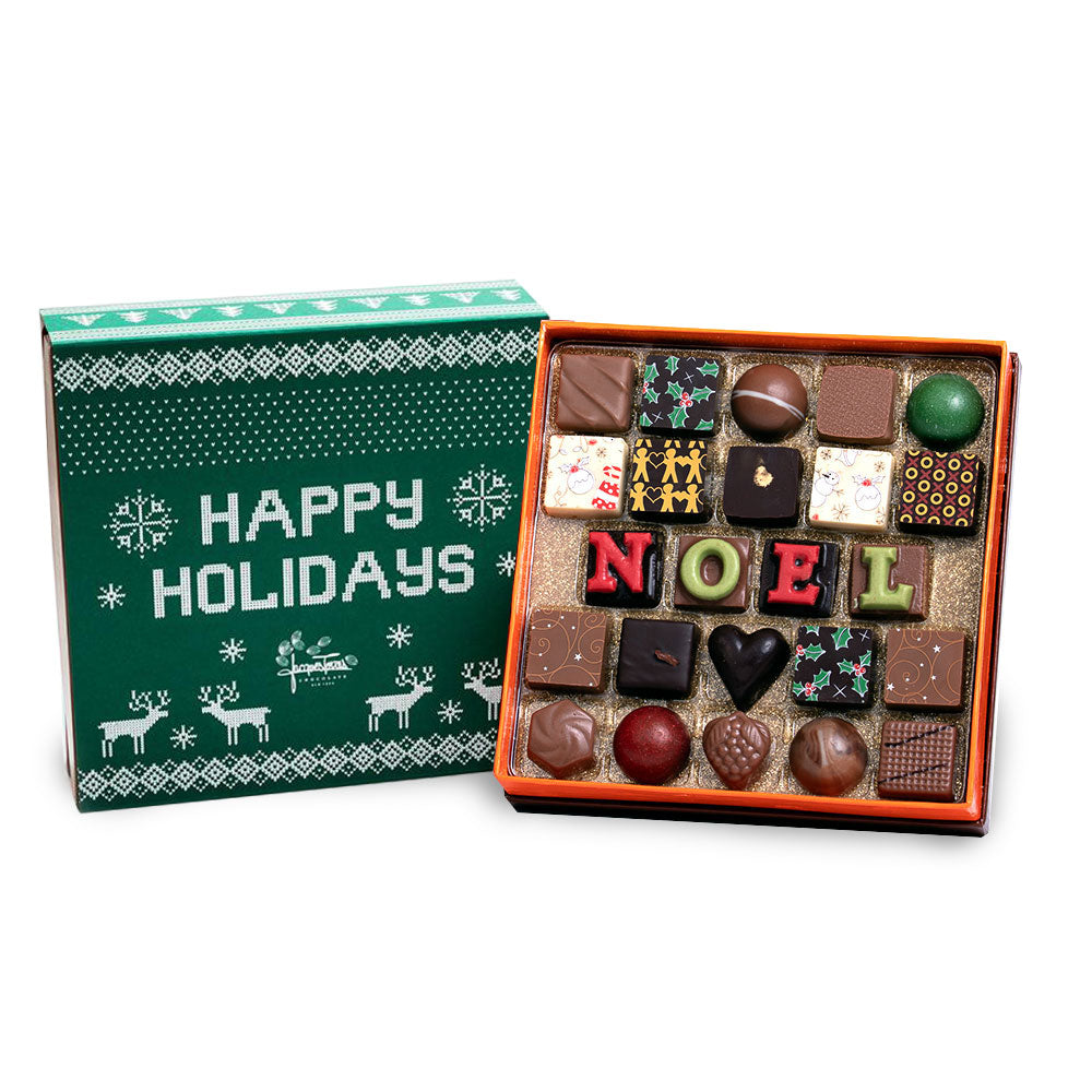 The First NOEL Bonbons with Green Happy Holidays Sleeve Sleeve 25 pc