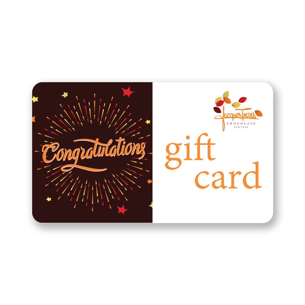 Congratulations Gift Card by Jacques Torres
