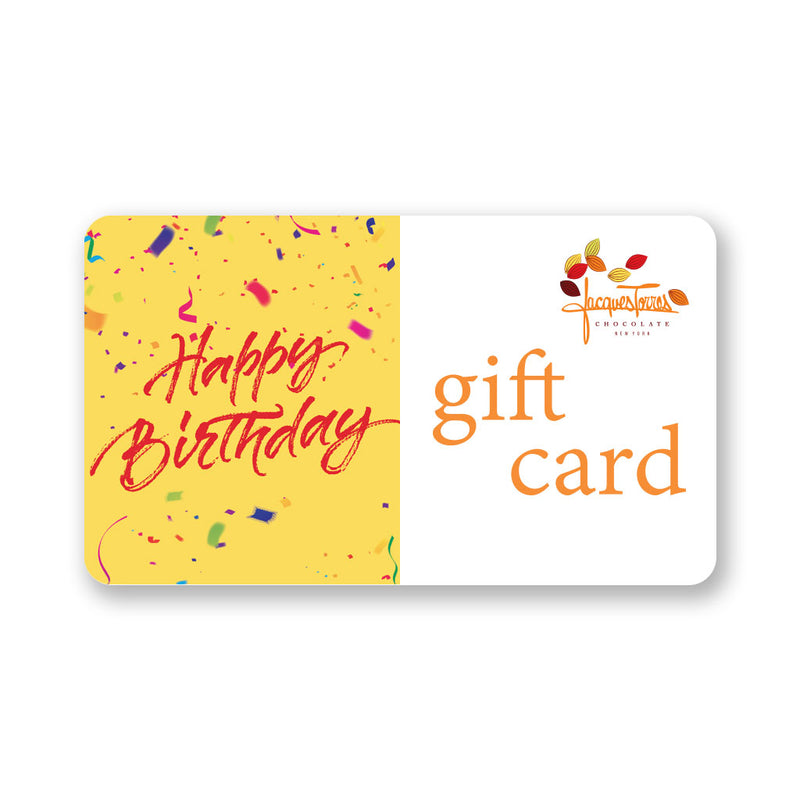 Jacques Torres Chocolate Happy Birthday Gift Card