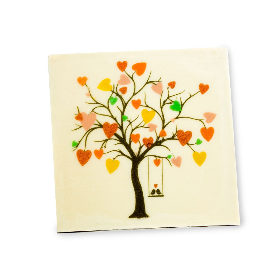 Love Birds Chocolate Plaque