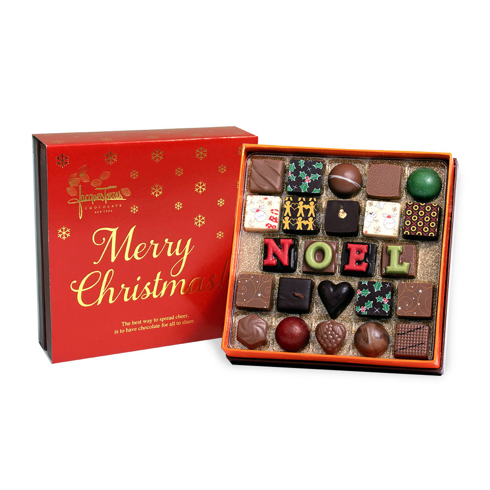 The First NOEL Bonbons with Red & Gold Merry Christmas Sleeve 24pc