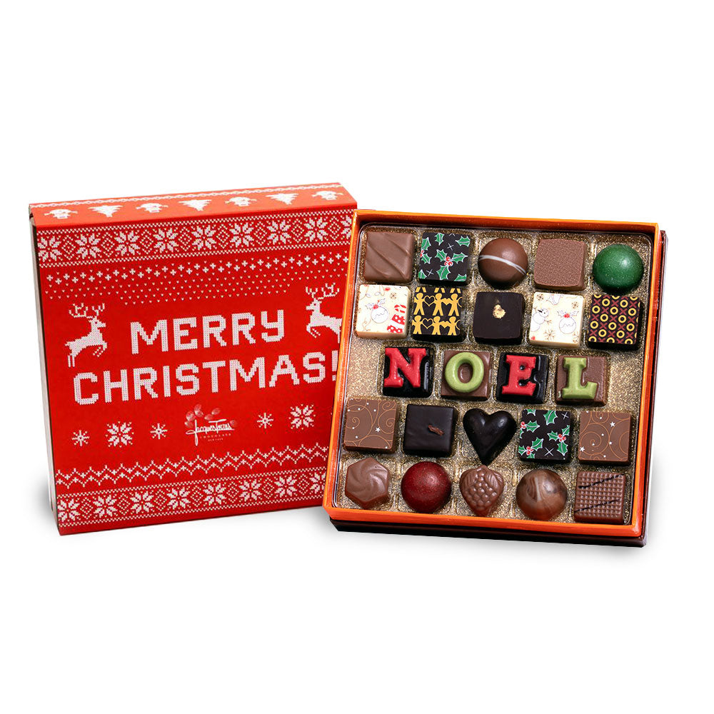 The First NOEL Christmas Bonbons With Red and White Merry Christmas Sleeve 24 pc