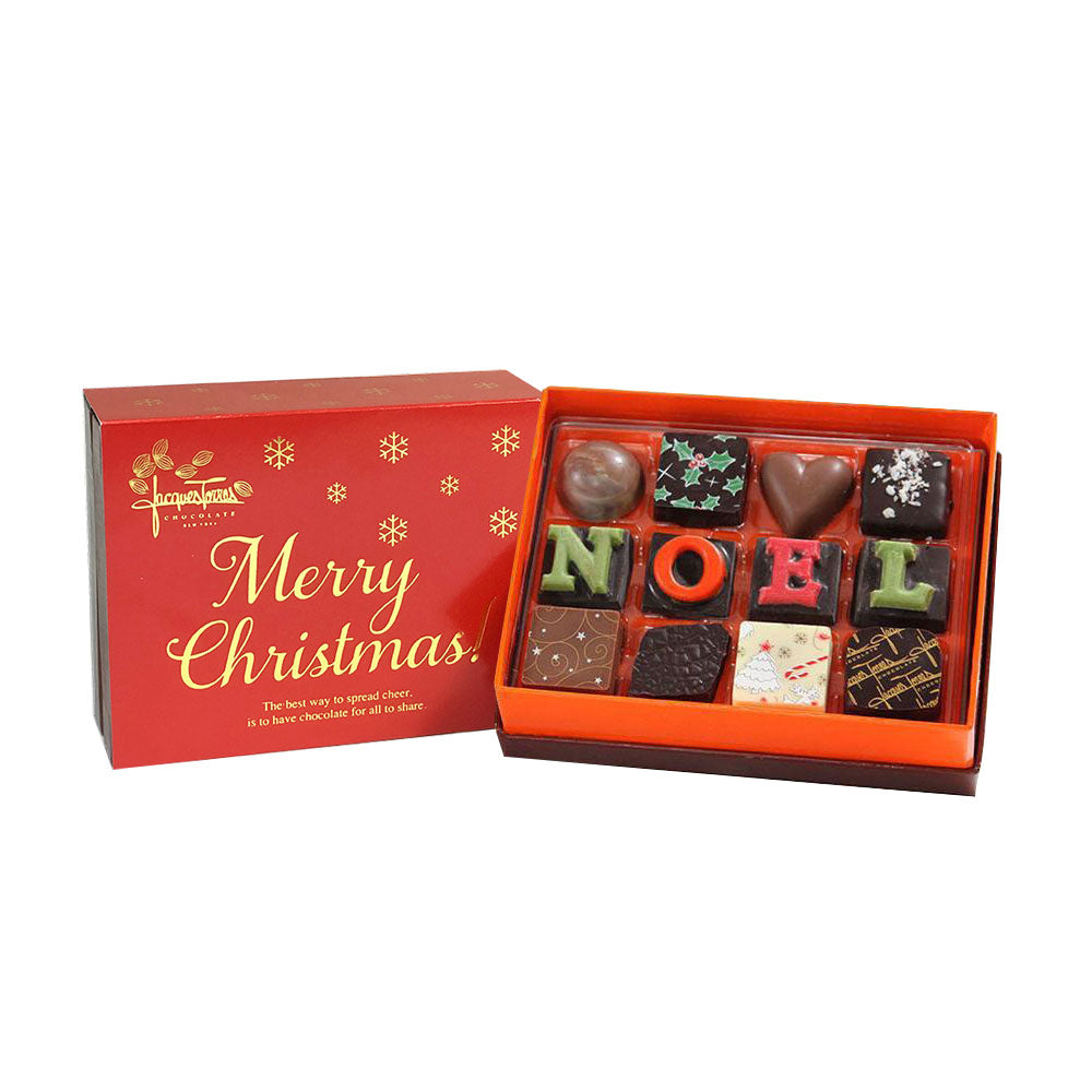 The First NOEL Bonbons with Red & Gold Merry Christmas Sleeve 12 pc