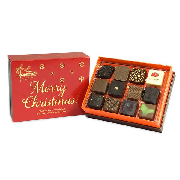 Assorted Bonbons with Red & Gold Merry Christmas Sleeve 12 pc