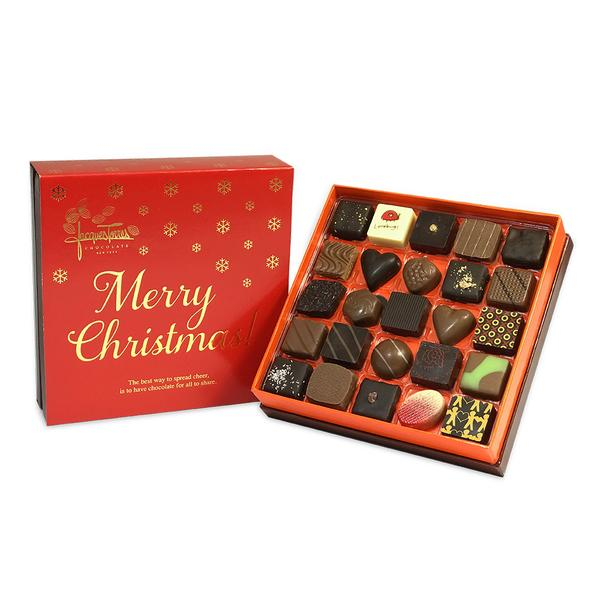Assorted Bonbons with Red & Gold Merry Christmas Sleeve 25 pc and 50 pc