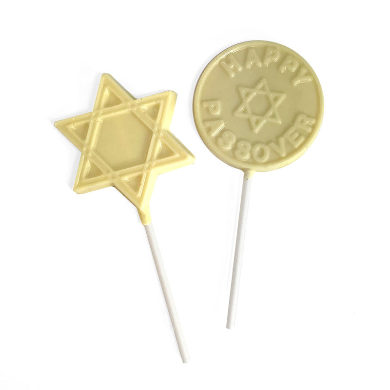 White Chocolate Passover Lollipop 6 pc and 12 pc by Jacques Torres