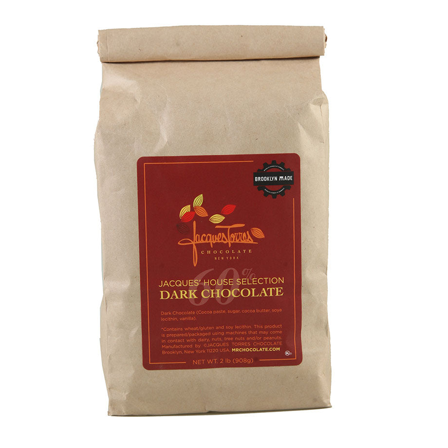Jacques Torres Dark Chocolate Baking Discs - 60%