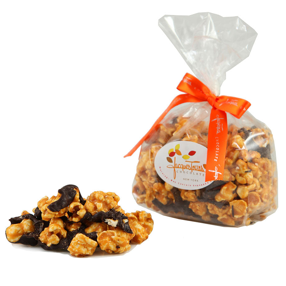 Caramel Popcorn drizzled with chocolate by Jacques Torres