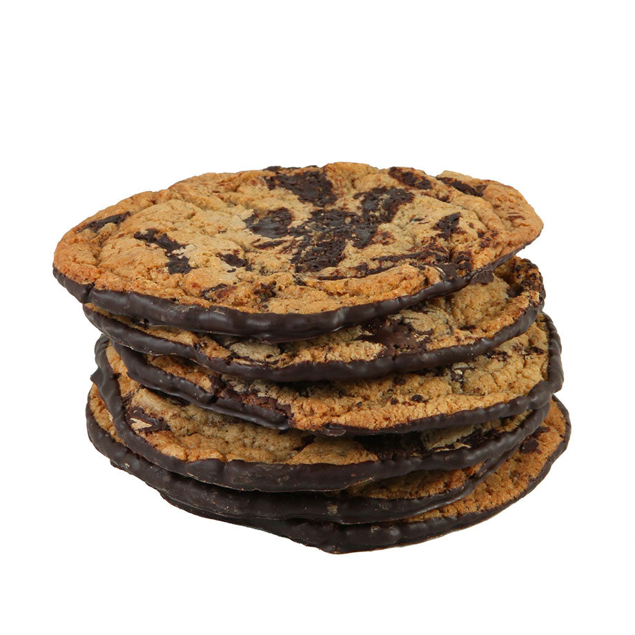 Chocolate Chip Cookie with Chocolate Coated Bottoms 6 ea 12 ea 24 ea by Jacques Torres