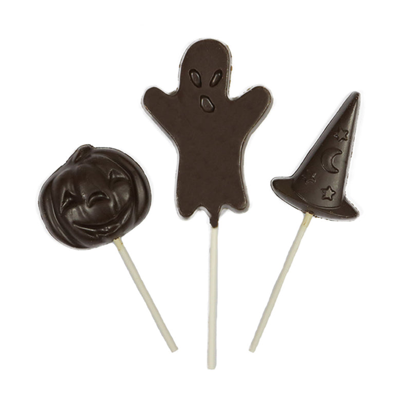 Dark - 6pc Chocolate Halloween Lollipops by Jacques Torres