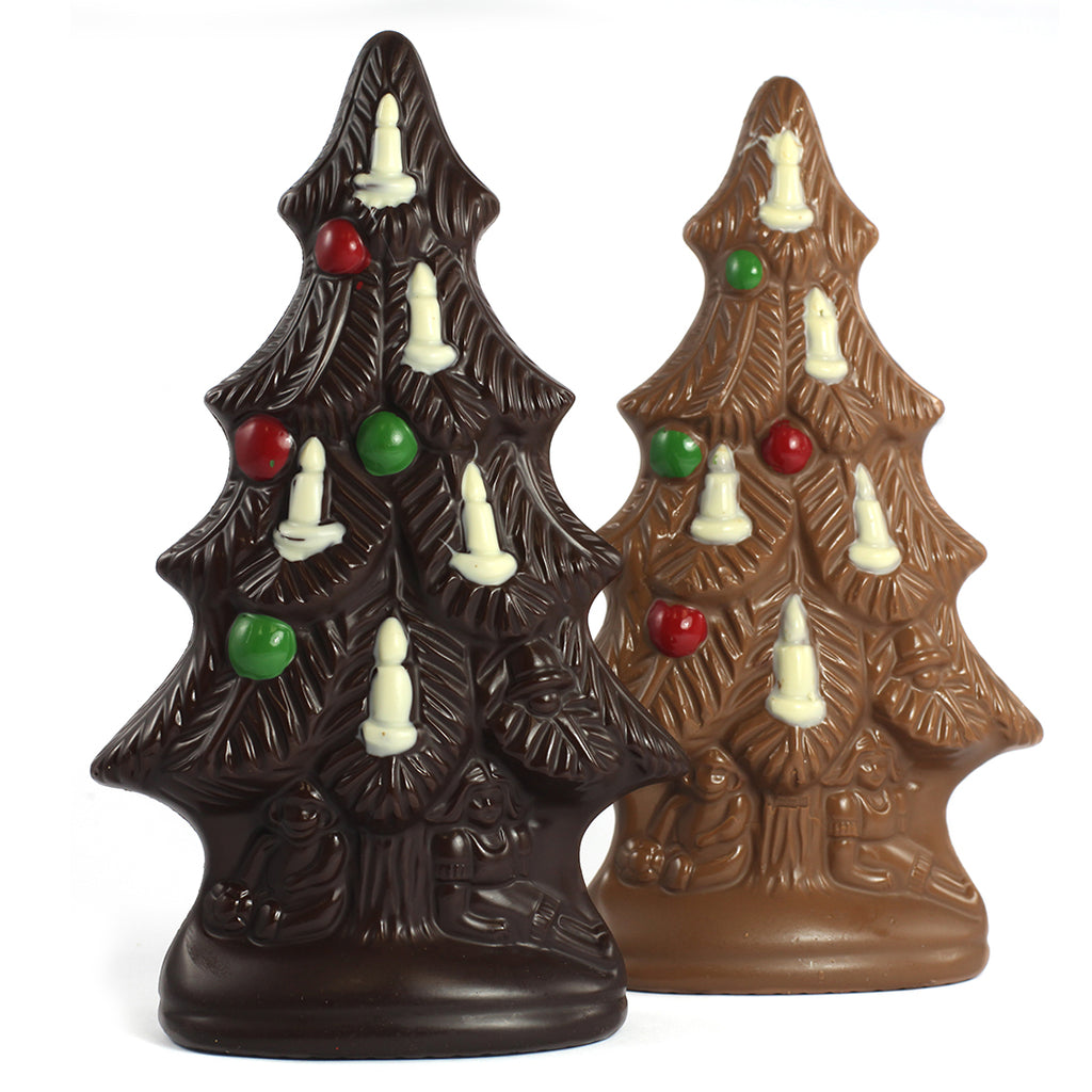 Large Chocolate Christmas Tree in Milk or Dark by Jacques Torres