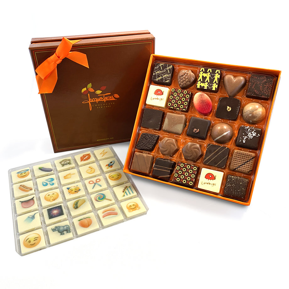 Jacques' Choice Chocolate Emoji Collection 25 pc by Jacques Torres