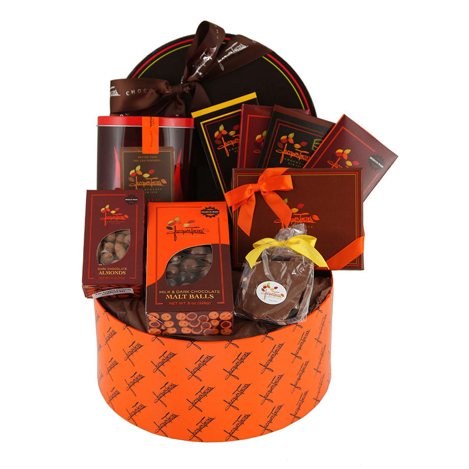 Sampler Gift Basket of Jacques Torres Chocolates