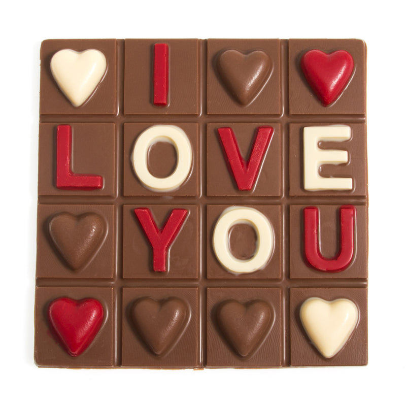 Milk Chocolate I Love You Square by Jacques Torres