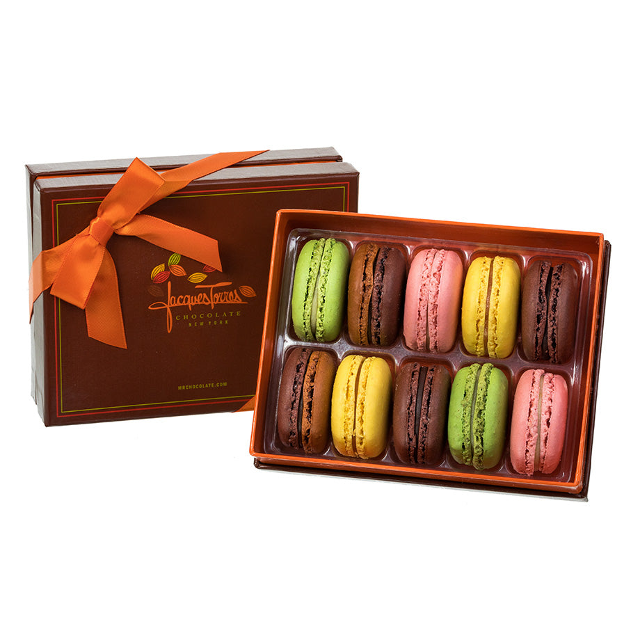 French Macarons 10pc Box by Jacques Torres Chocolate
