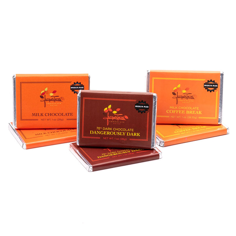 Jacques Torres Chocolate Mini Bars - 1 OZ