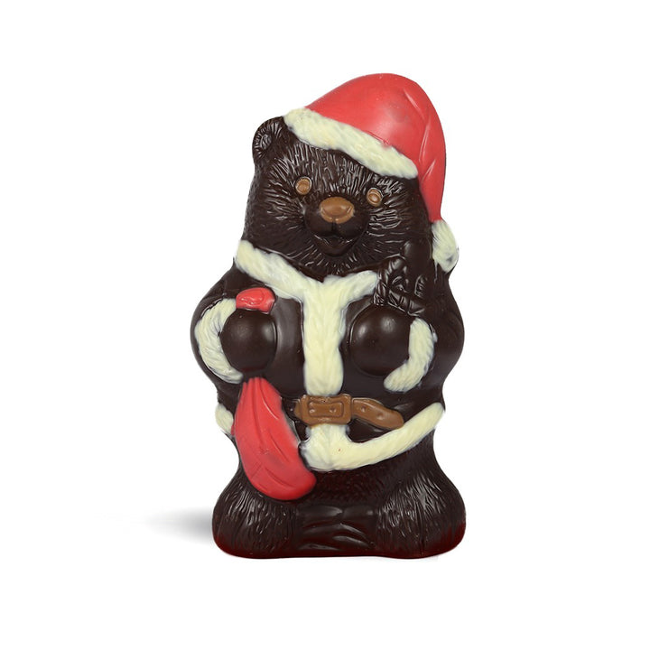 Dark Chocolate Santa Bear by Jacques Torres