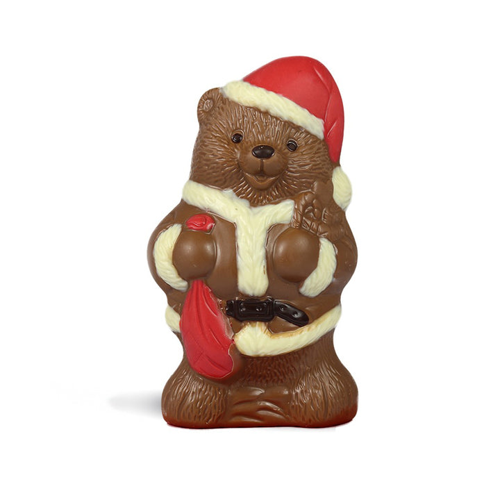Milk Chocolate Santa Bear by Jacques Torres