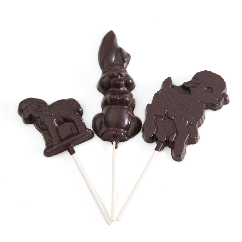 Dark Chocolate Easter Lollipops by Jacques Torres Chocolate
