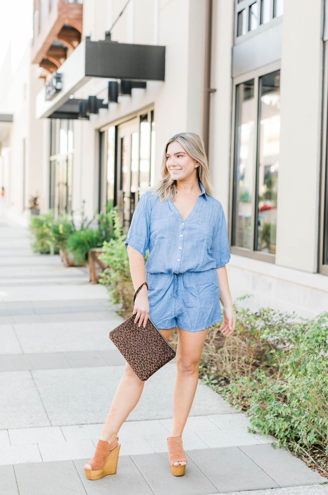 Denim Blue Romper