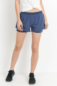 Denim Blue Active Shorts
