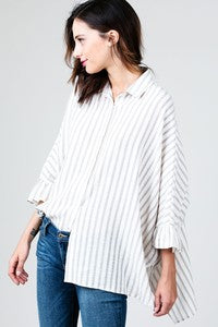 Oversized Stripped Blouse