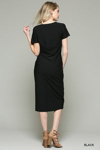 Cynthia J Black Knot Dress