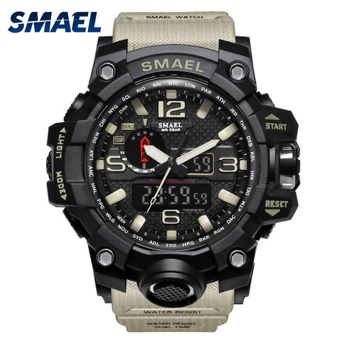 Men Military Watch 50m Waterproof LED Quartz