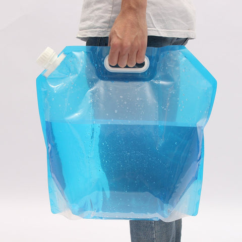 Outdoor 10L Collapsible Camping Emergency Survival Water Storage Carrier Bag