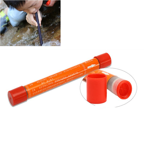 Portable Mini Straw Water Purifier for Camping Hiking Emergency Supplies