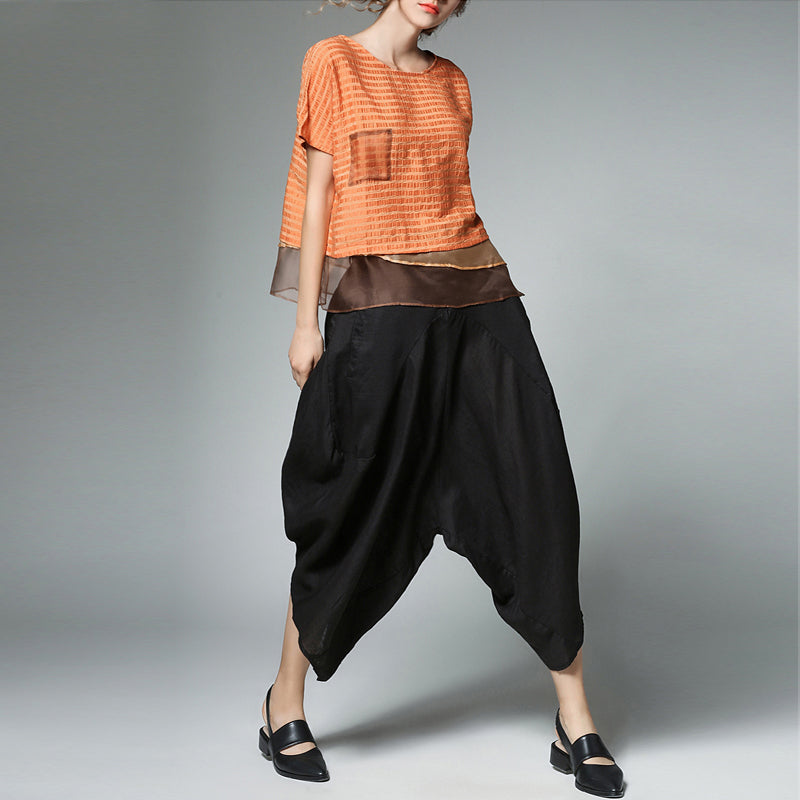 Cotton Linen Loose Haren Pants