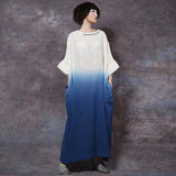 Woman Retro Loose Plus Size Cotton Linen Dress