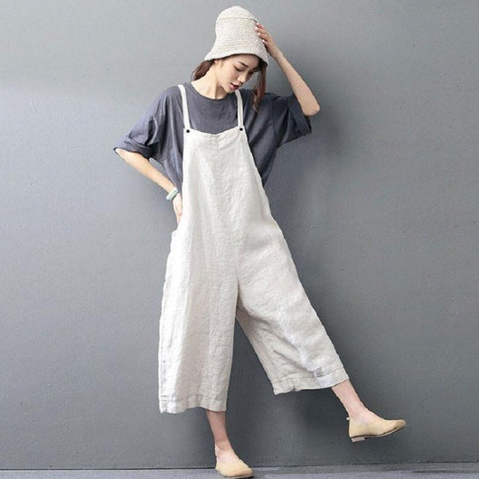 Woman Casual loose Linen Jumpsuit