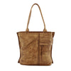 Women Retro Brushed Off Genuine Cow Leather Handbags Simple Style