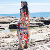 Bohemian Summer Dress Slim Sundress