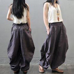 Women Linen Casual Loose Haren Pant