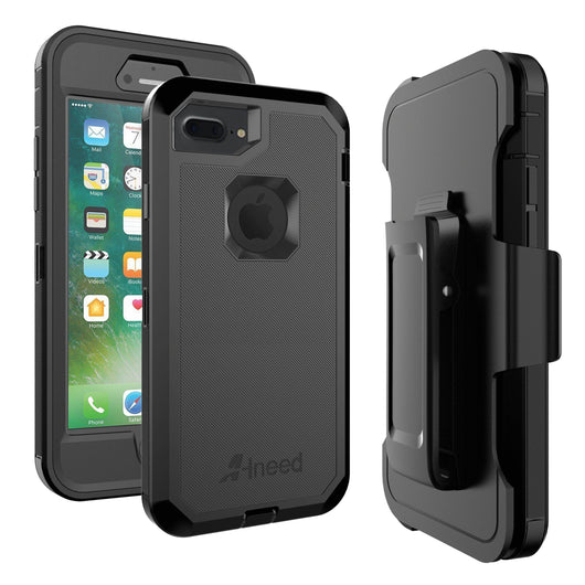 Iphone 7/8 Plus Heavy Duty Drop Protection Tough Rugged Rubber Hybrid Hard Shell Cover Case