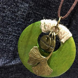 Ethnic Metal Ginkgo Leaf Necklace