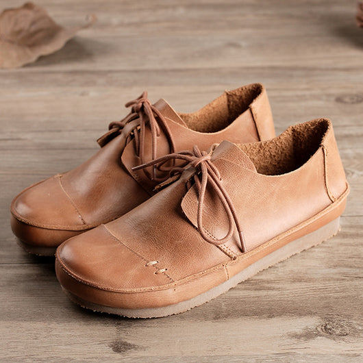 Women's Retro Handmade Leather Shoes