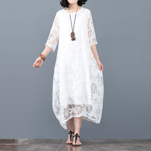 Alneed Spring Vintage Cotton and Linen Dress